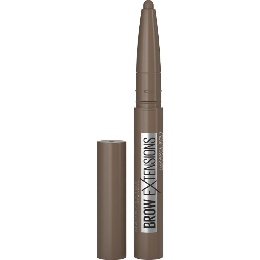 Maybelline Brow Extensions Fiber Pomade Crayon Eyebrow Makeup - Medium Brown - 0.014oz from Maybelline