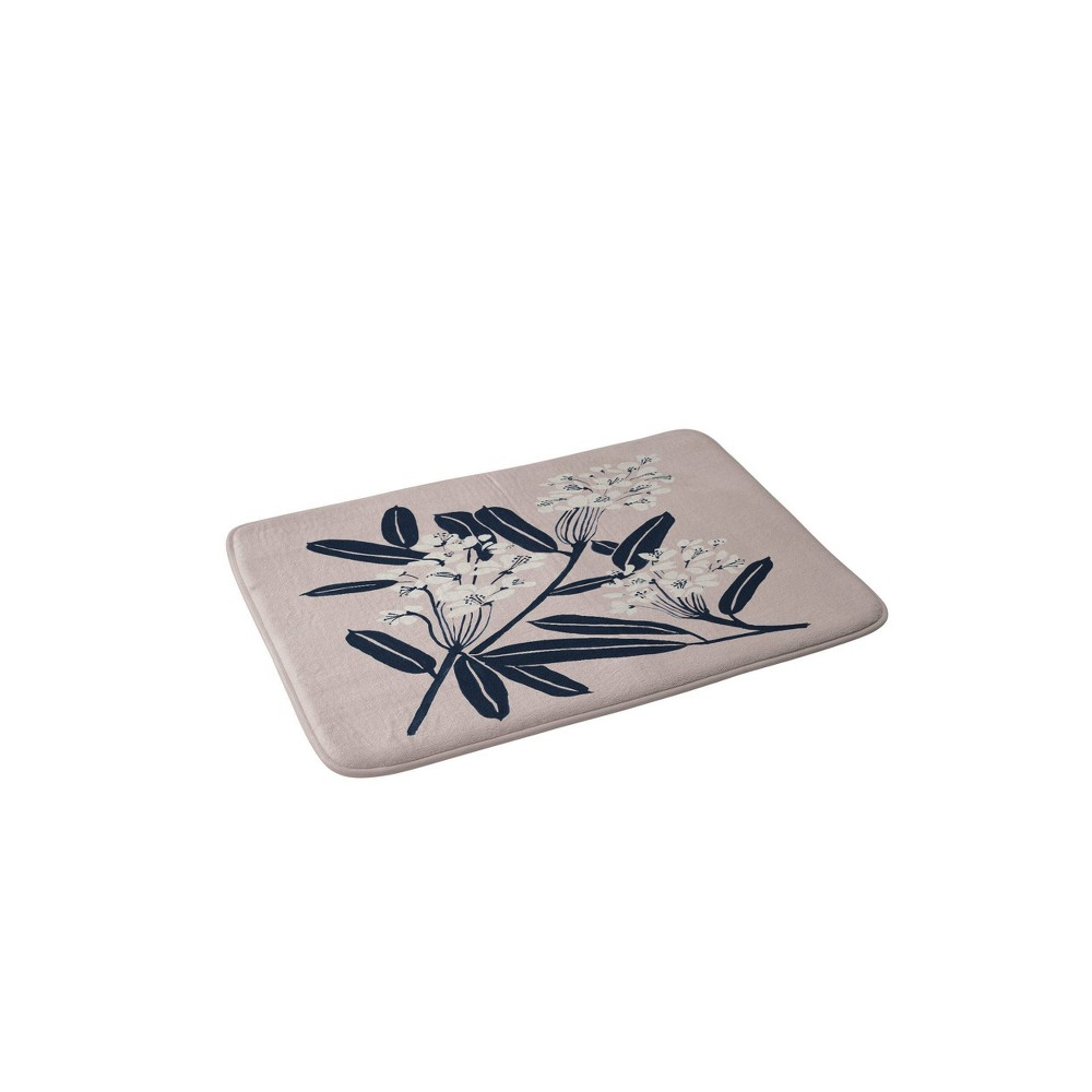 Megan Galante Boho Botanica Memory Foam Bath Mat Brown - Deny Designs from Deny Designs