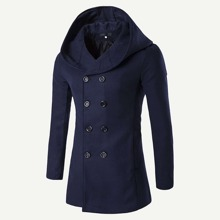 Guys Double Breasted Hooded Coat