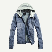 Guys Hooded Denim Jacket