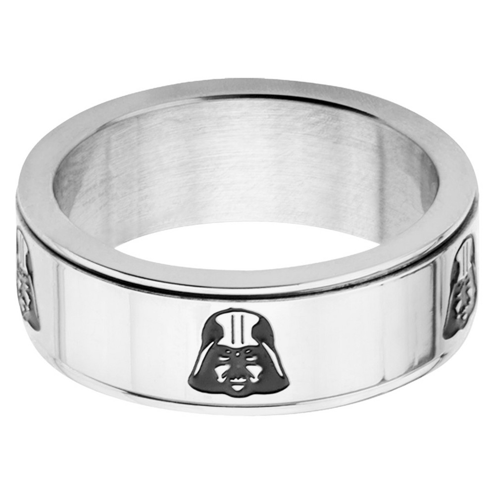 Men's Star Wars Darth Vader Stainless Steel Spinner Ring (9), Silver/Silver from Star Wars