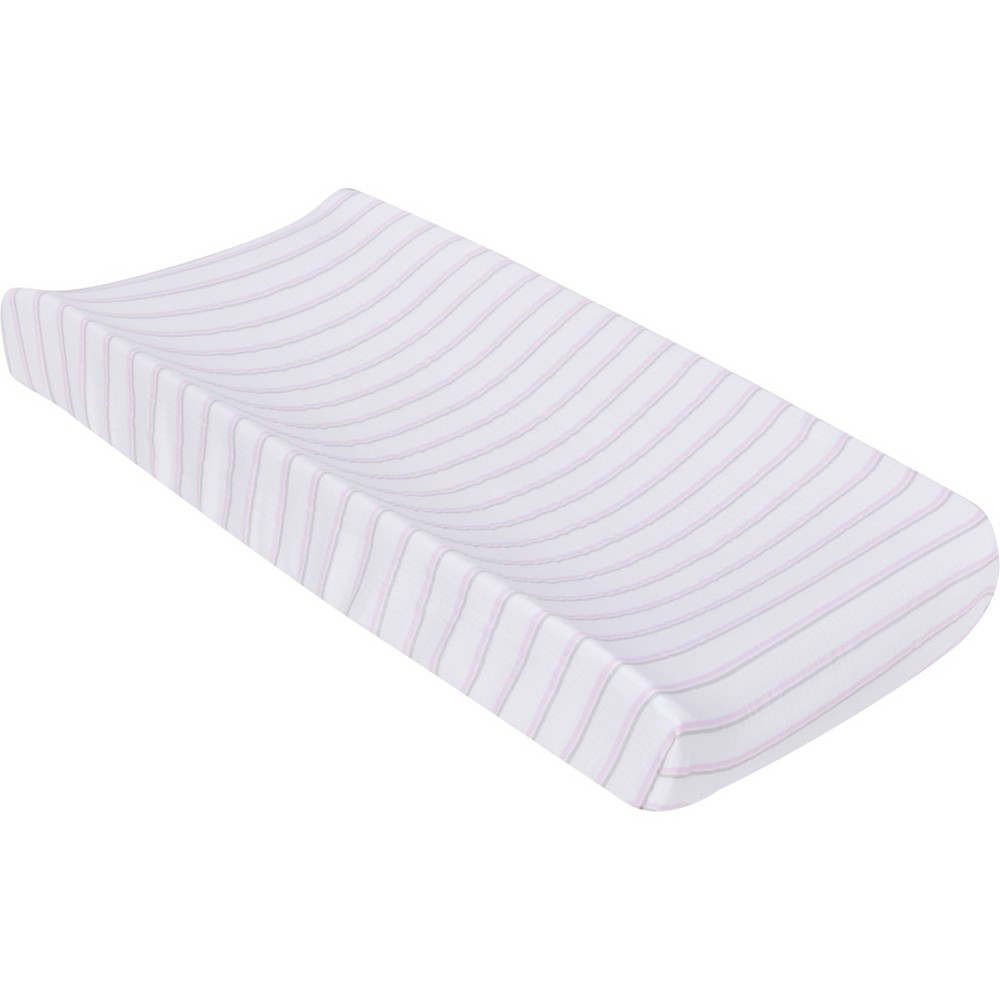 MiracleWare Muslin Changing Pad Cover Pink Stripe from MiracleWare