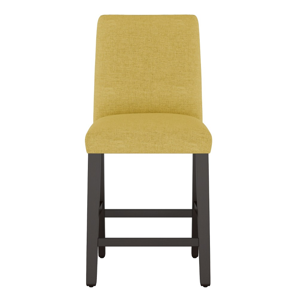 "26"" Modern Counter Height Barstool Golden Yellow Linen - Project 62 from Project 62"