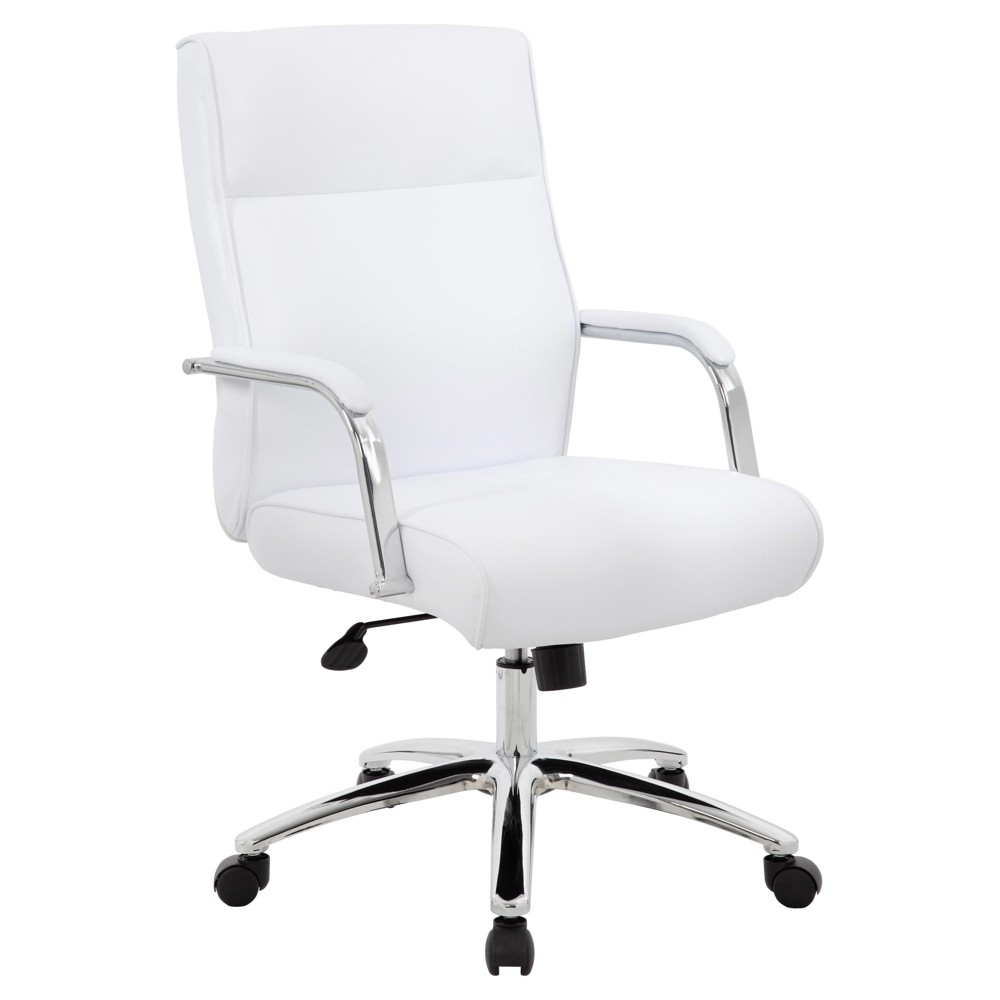 Modern Executive Conference Chair White - Boss Office Products from Boss Office Products