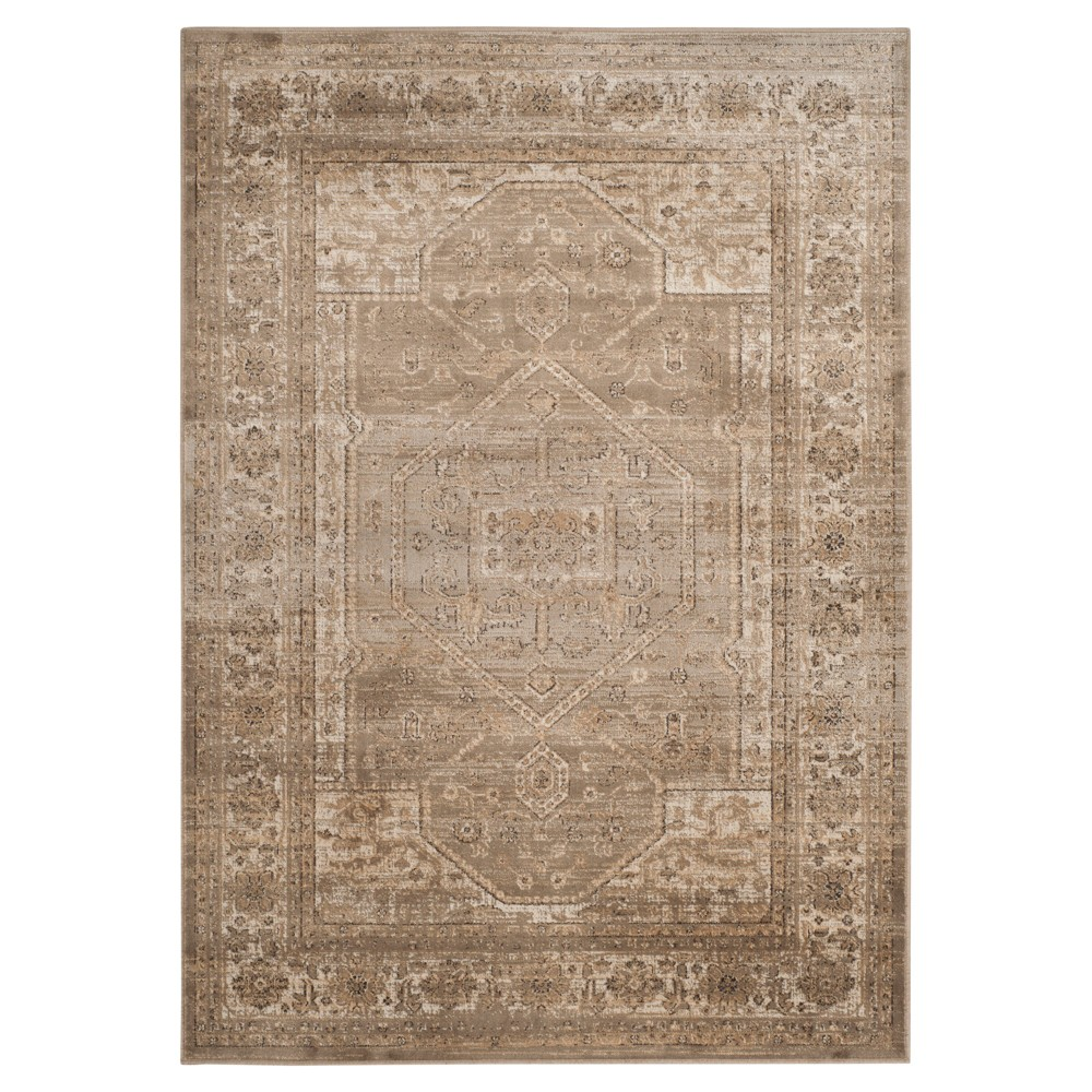 "Mouse Medallion Loomed Accent Rug 4'X5'7"" - Safavieh, Brown"