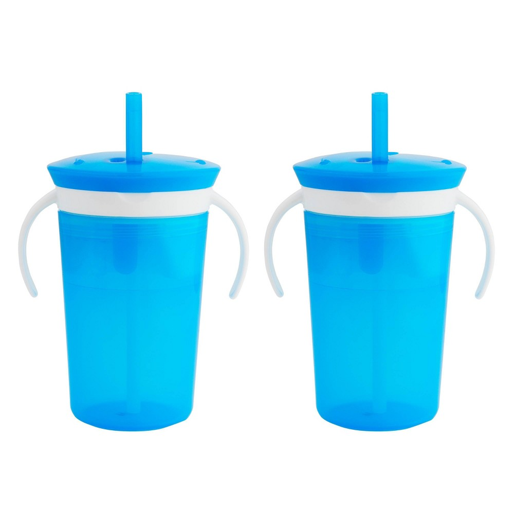 Munchkin SnackCatch & Sip 2-in-1 Snack Catcher and Spill Proof Cup - Blue - 9 fl oz from Munchkin