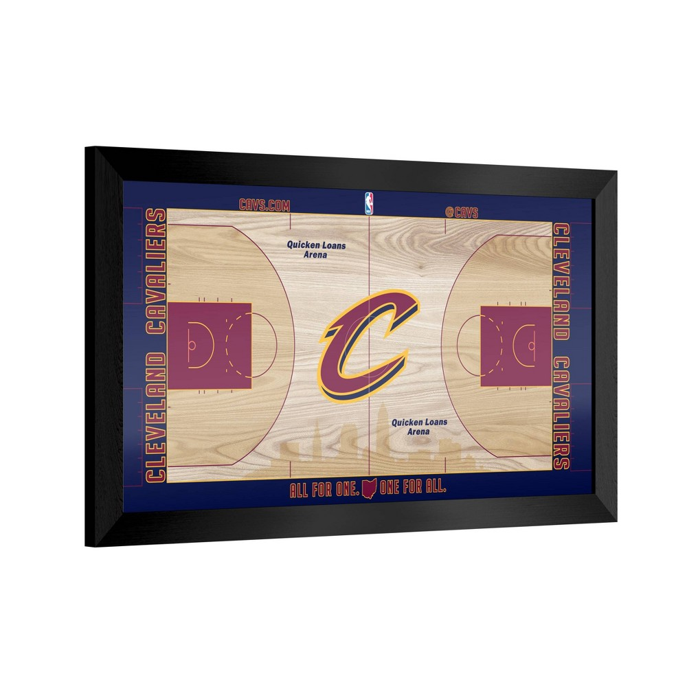 NBA Cleveland Cavaliers Team Court Framed Plaque from NBA