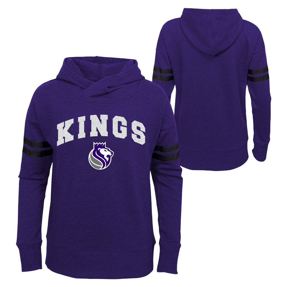 NBA Sacramento Kings Girls' Post Up French Terry Hoodie - XS from NBA