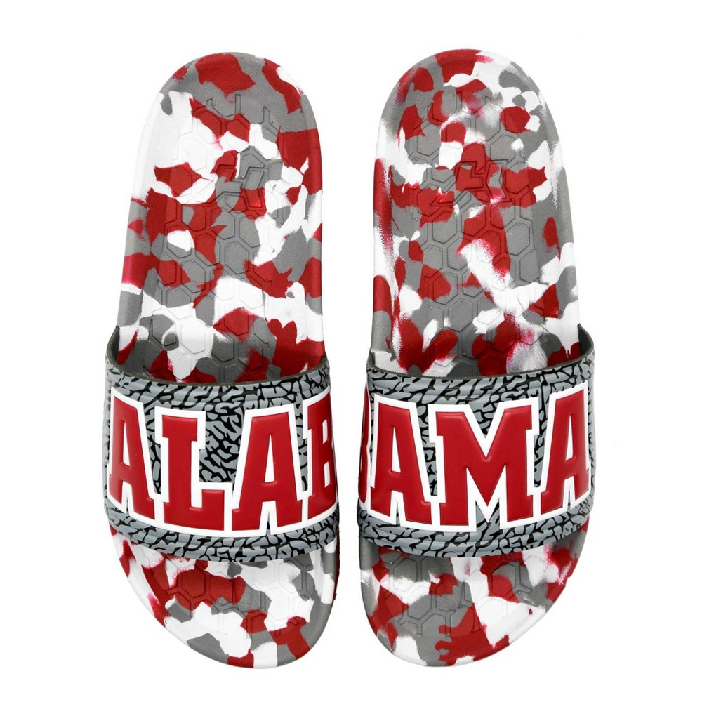 NCAA University of Alabama Crimson Tide Slide Sandals Women's Size - 6, Red from Hype Co