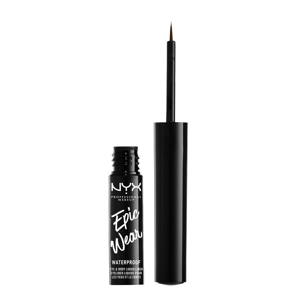 NYX Professional Makeup Epic Wear Eye & Body Long-Wear Liquid Liner Brown - 0.07 fl oz from NYX Professional Makeup