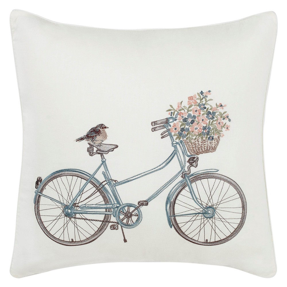 Natural Bicycle Throw Pillow - Laura Ashley