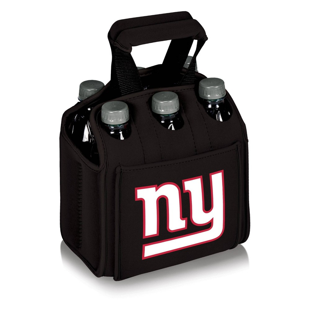 New York Giants - Six Pack Beverage Carrier by Picnic Time (Black) from Picnic Time