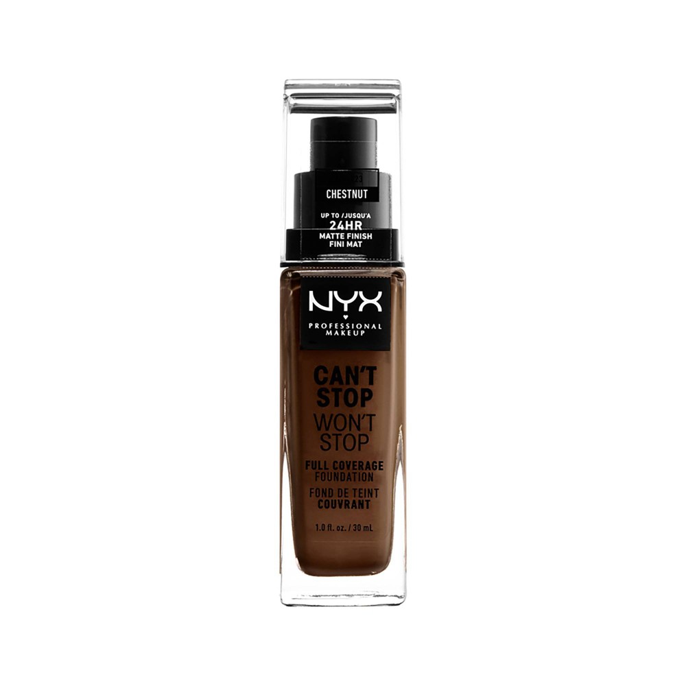 NYX Professional Makeup Can't Stop Won't Stop 24Hr Full Coverage Matte Finish Foundation - Chestnut - 1.3 fl oz from NYX Professional Makeup