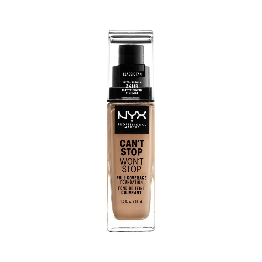 NYX Professional Makeup Can't Stop Won't Stop 24Hr Full Coverage Matte Finish Foundation - Classic Tan - 1.3 fl oz from NYX Professional Makeup