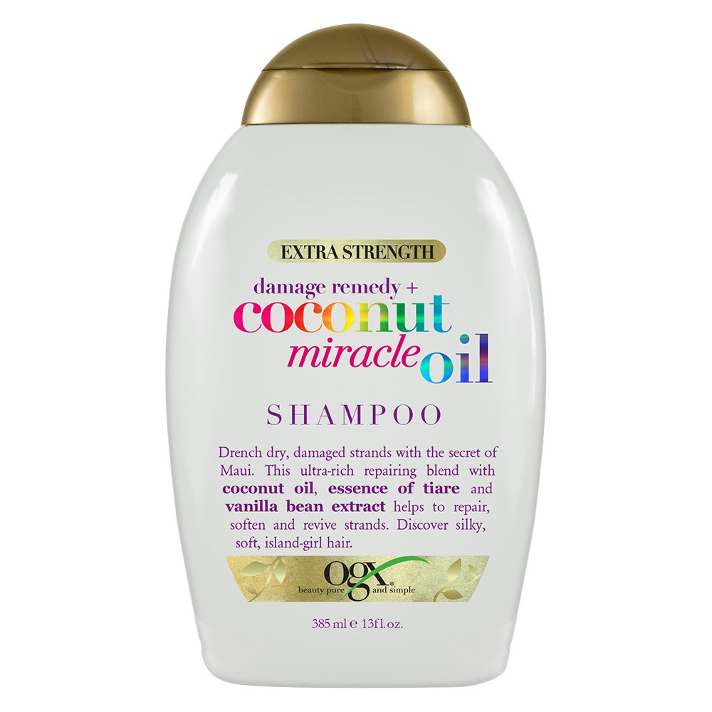 Ogx Extra Strength Damage Remedy + Coconut Miracle Oil Shampoo - 13 fl oz