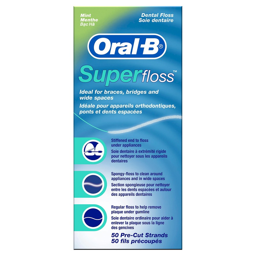 Oral-B Mint Super Floss Pre-Cut Strands - 50ct from Oral-B
