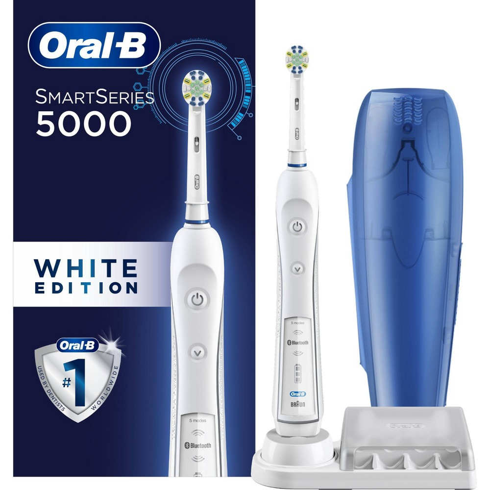 Oral-B 5000 SmartSeries Electric Toothbrush White Powered by Braun from Oral-B