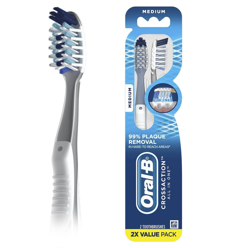 Oral-B CrossAction All In One Toothbrush Medium - 2ct from Oral-B