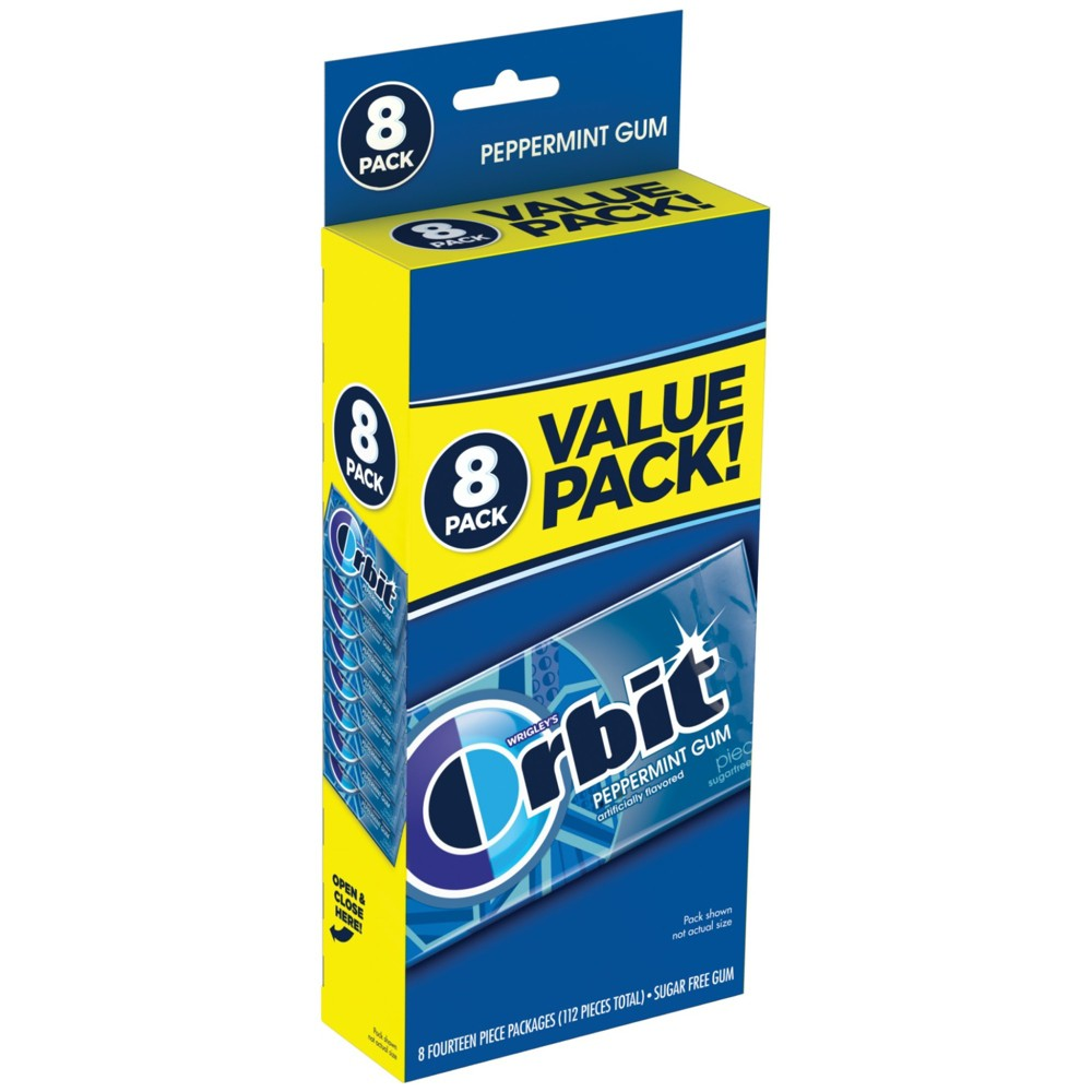 Orbit Peppermint Sugarfree Gum Value Pack - 112ct from Orbit