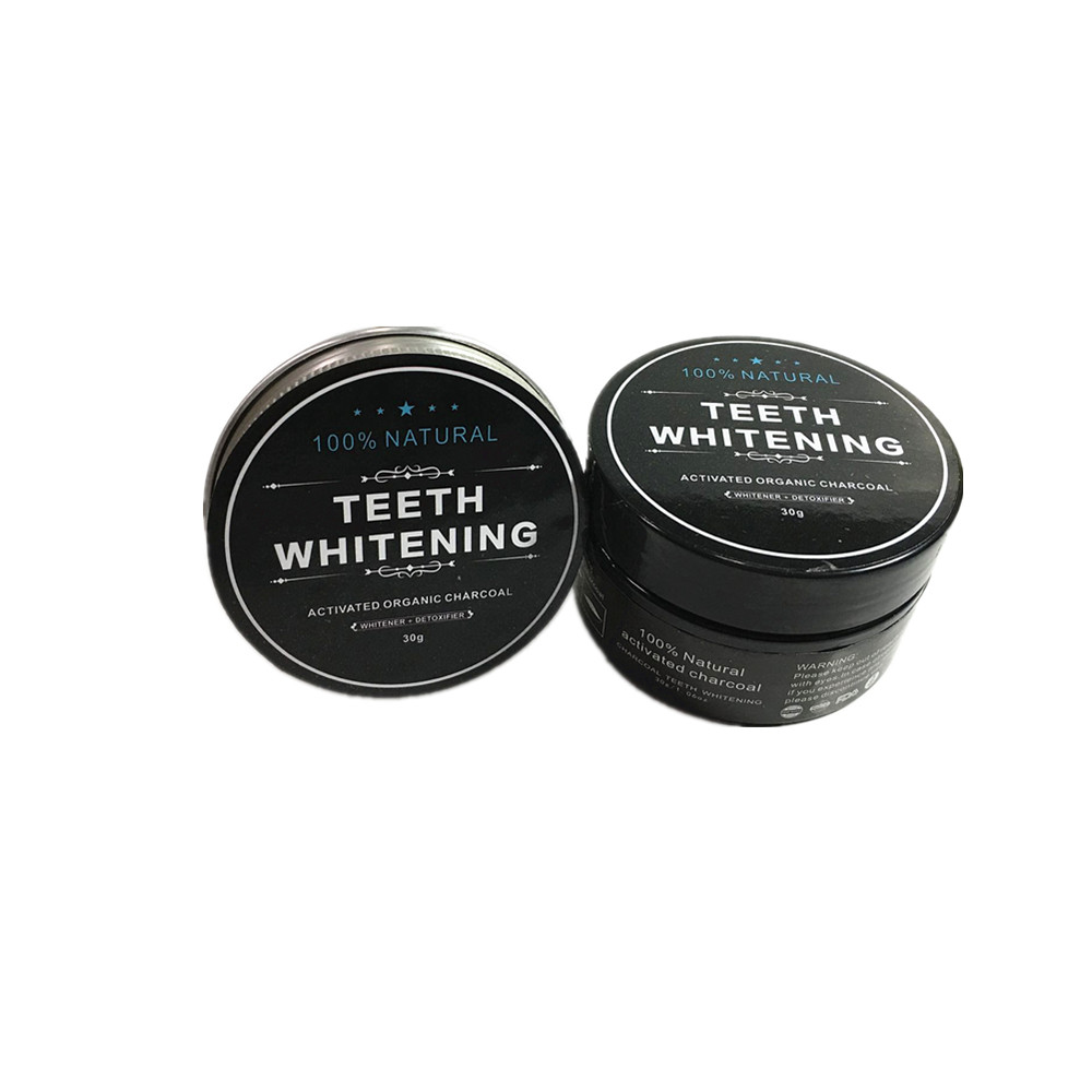 Organic Coconut Activated Charcoal Teeth Whitening Powder USA MADE label