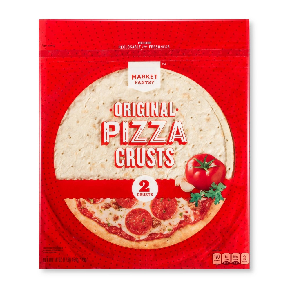 Original Pizza Crusts - 16oz/2ct - Market Pantry from Market Pantry
