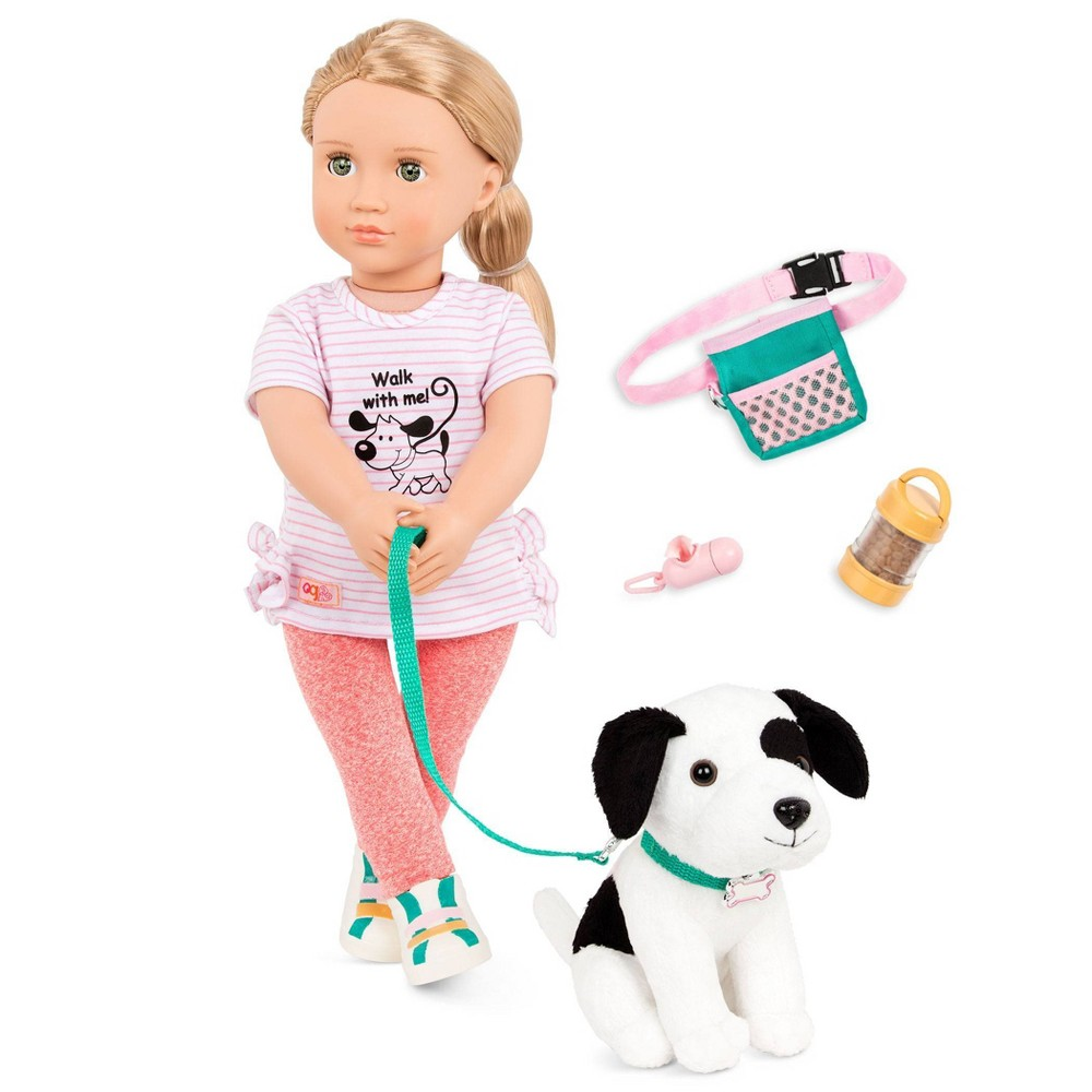 "Our Generation 18"" Dog Trainer Doll with Plush Pet & Accessories - Hazel from Our Generation"