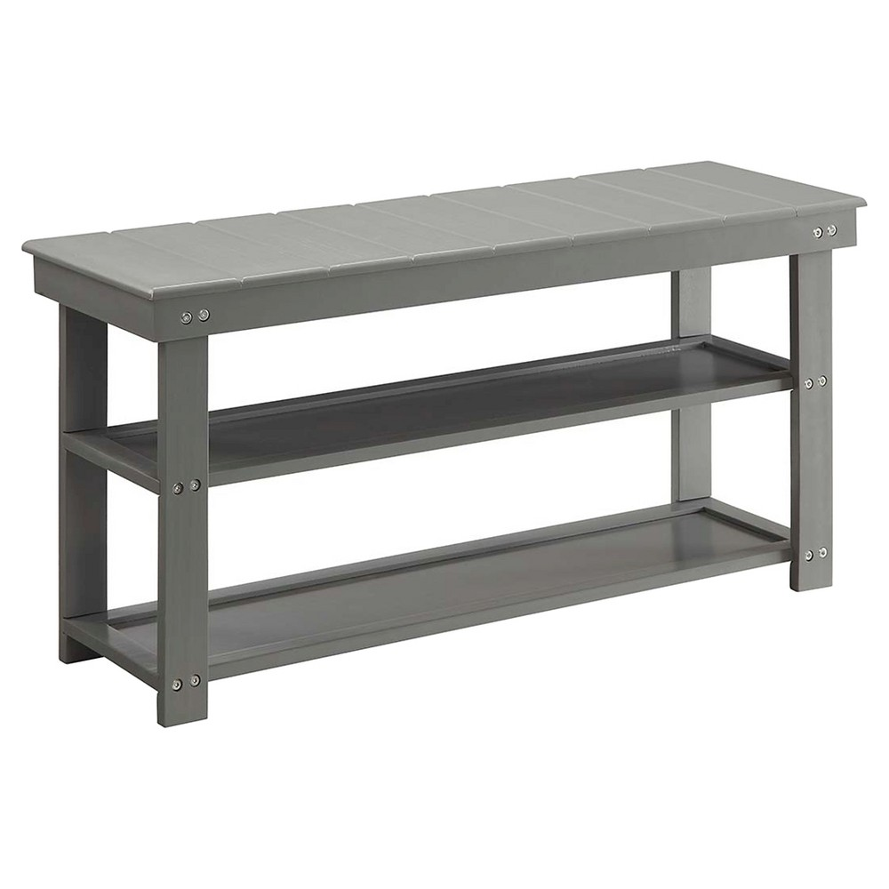 Oxford Utility Mudroom Bench Gray - Breighton Home from Breighton Home
