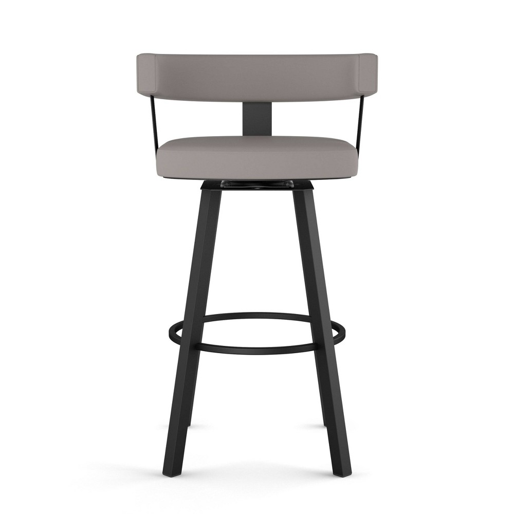 Parker Swivel Counter Height Barstool Taupe /Gray Faux Leather - Amisco from Amisco