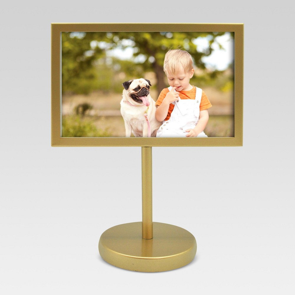 "4"" x 6"" Pedestal Single Picture Frame Brass - Project 62 from Project 62"