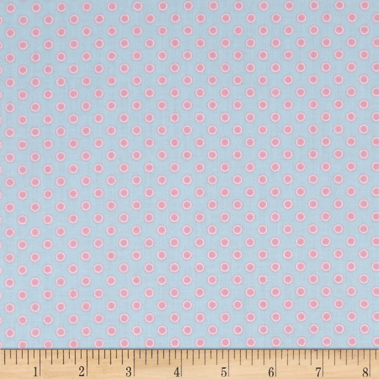 Penny Rose Perfect Party Dot Blue Fabric