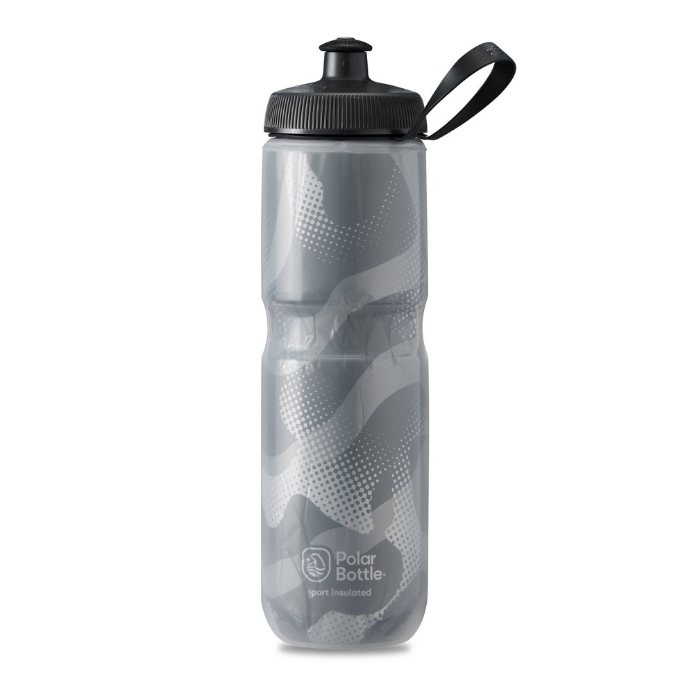 Polar Sport 24oz Insulated Contender Water Bottle - Charcoal/Silver
