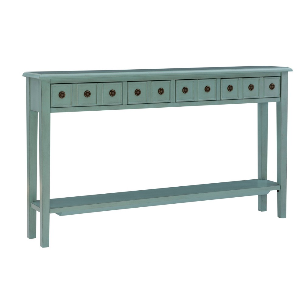 Calinda Long Console Table Teal - Powell Company from Powell Company