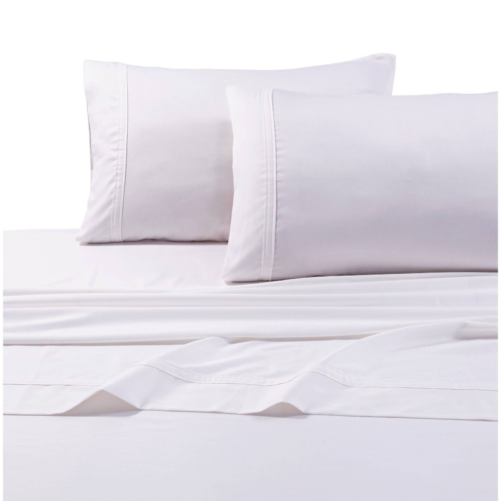 Queen 500 Thread Count Oversized Flat Sheet White - Tribeca Living from Tribeca Living