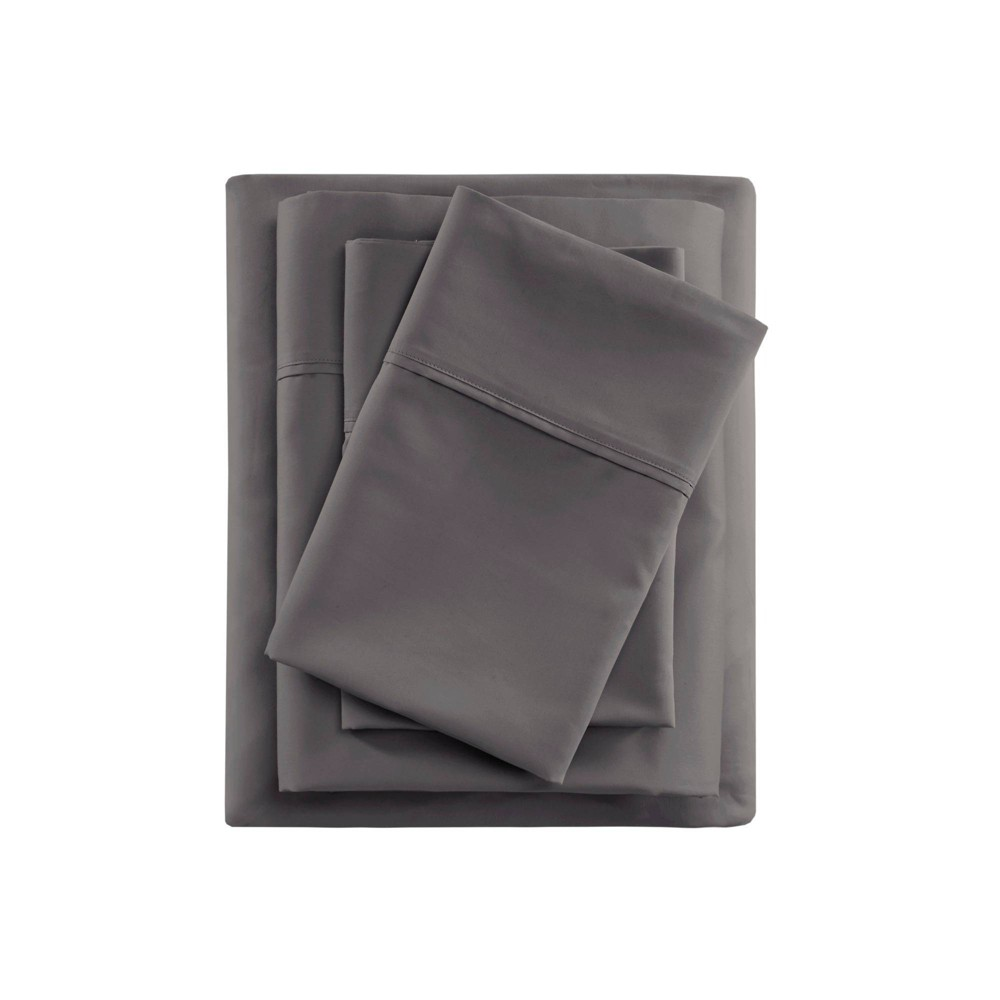 Queen 600 Thread Count Cooling Cotton Sheet Set Charcoal from Beautyrest