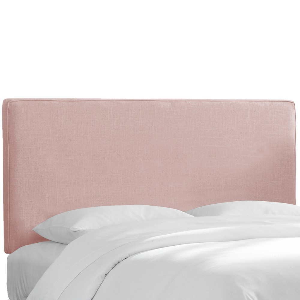 Queen Harper Box Seam Headboard Blush Linen - Skyline Furniture from Skyline Furniture