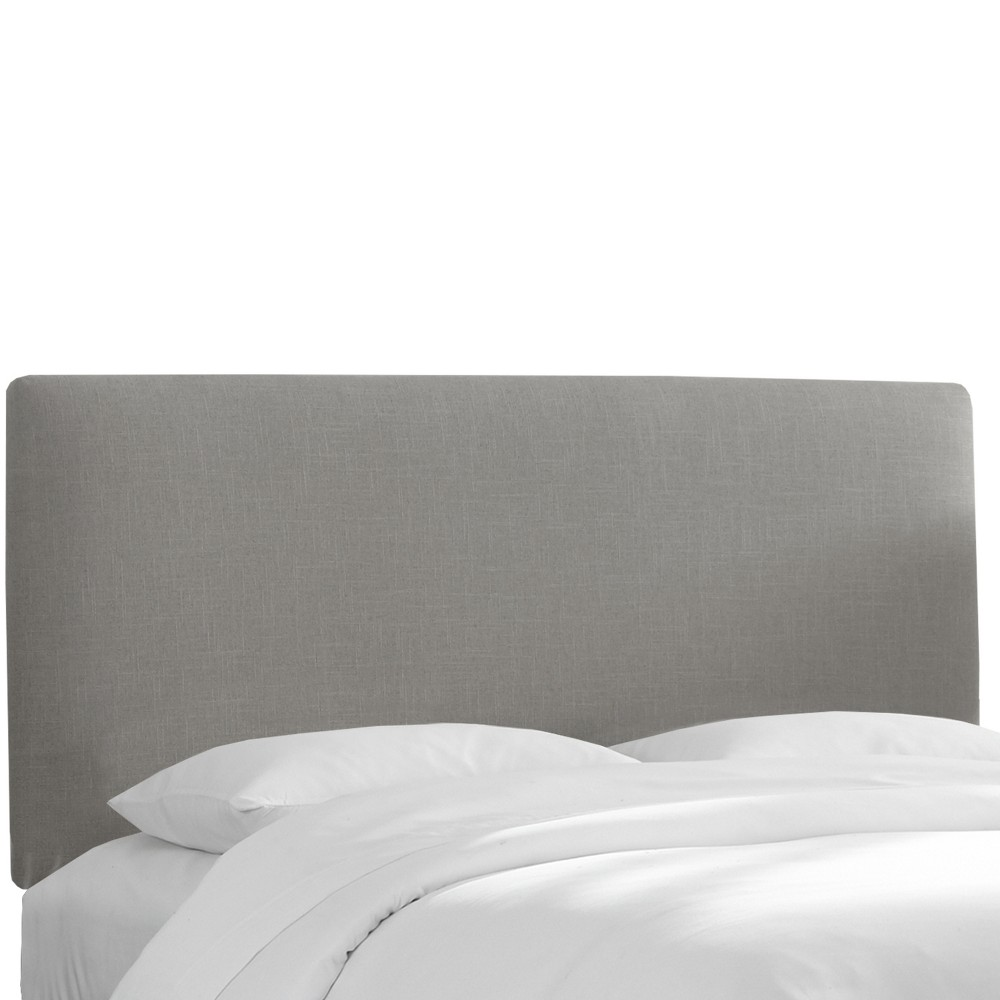 Queen Olivia Upholstered Headboard Gray Linen - Skyline Furniture from Skyline Furniture
