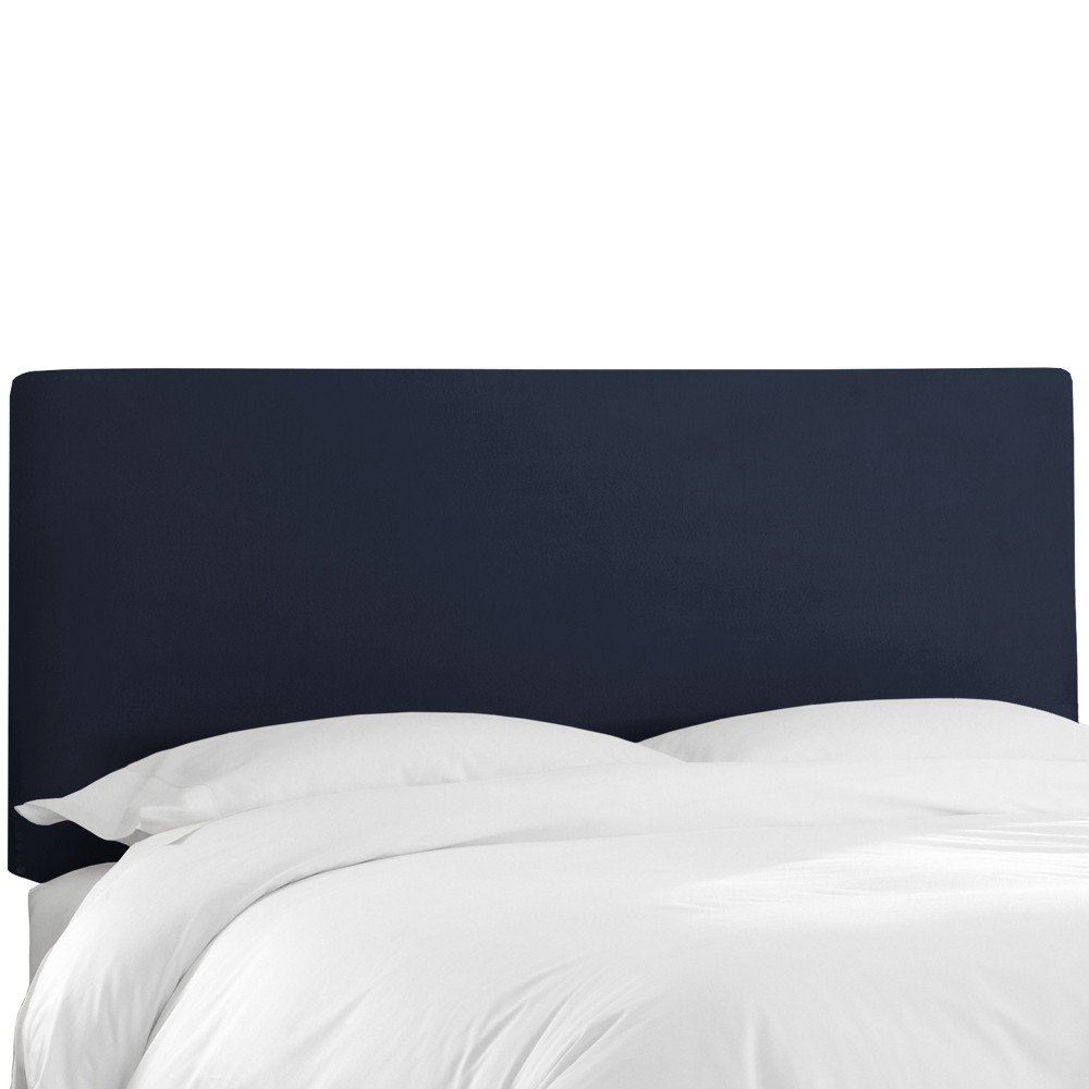 Queen Olivia Upholstered Headboard Navy Velvet - Skyline Furniture from Skyline Furniture