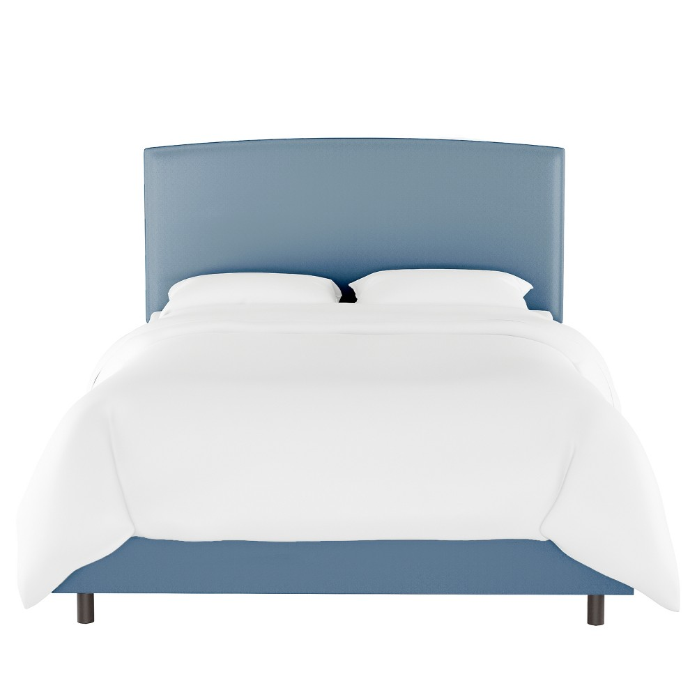 Queen Upholstered Bed Light Blue Velvet - Opalhouse from Opalhouse