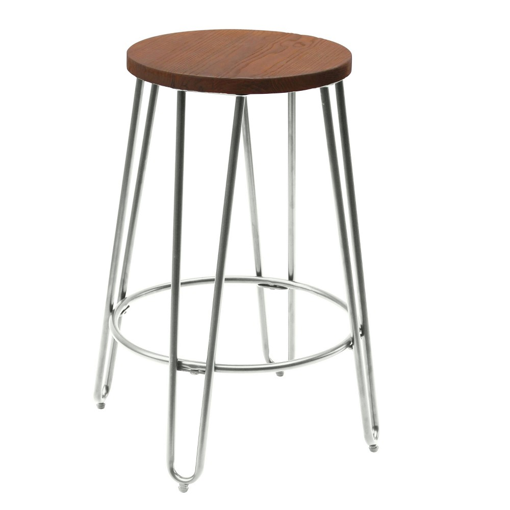 Quinn 24 Counter Stool - Chrome (Grey) - Reservation Seating