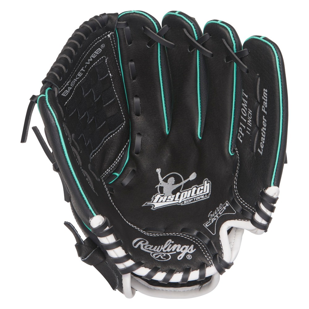 Rawlings Fastpitch Series 11 Softball Glove - Black/Teal, Multi-Colored