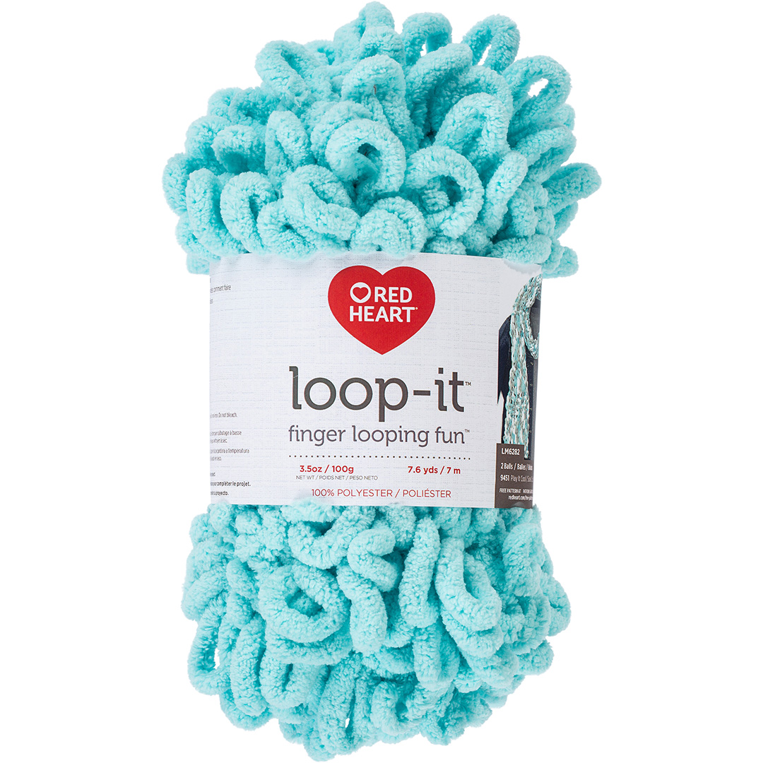 Red Heart Loop-It Aqua-Scuse Me