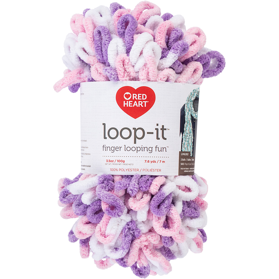 Red Heart Loop-It Tickle Pink & Purple
