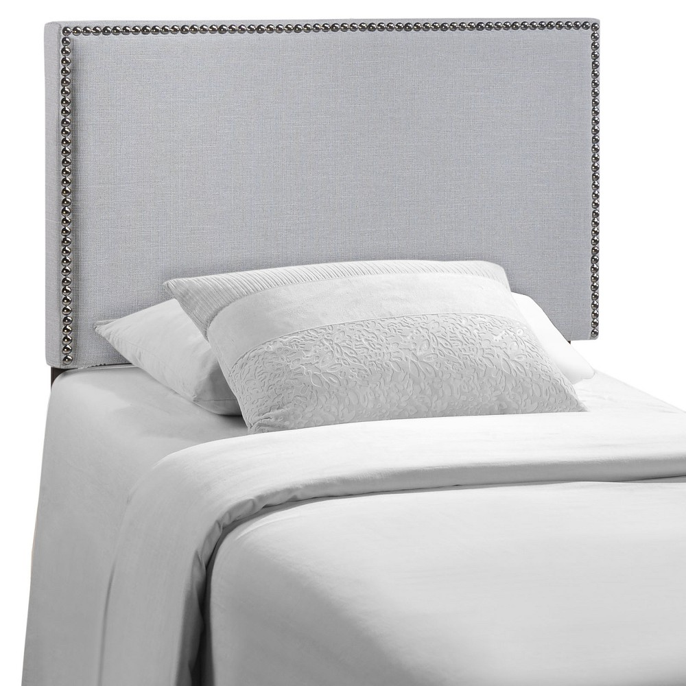 Region Twin Nailhead Upholstered Headboard Sky Gray - Modway from Modway