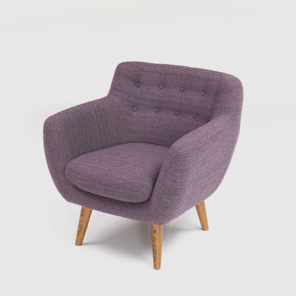 Rhodes Mid-Century Modern Tufted Armchair Purple - RST Brands from RST Brands