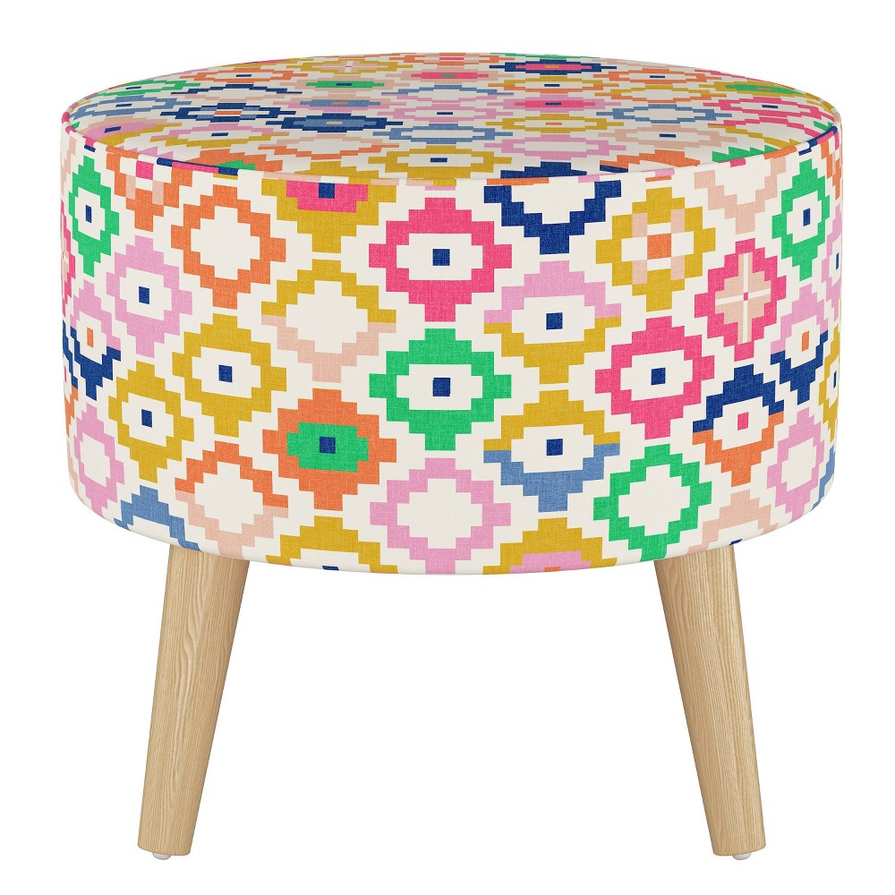 Riverplace Round Ottoman with Splayed Legs Catalina - Project 62 from Project 62