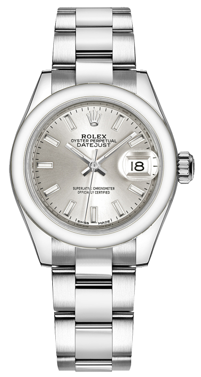 Rolex Lady-Datejust 28 Silver Dial Watch 279160