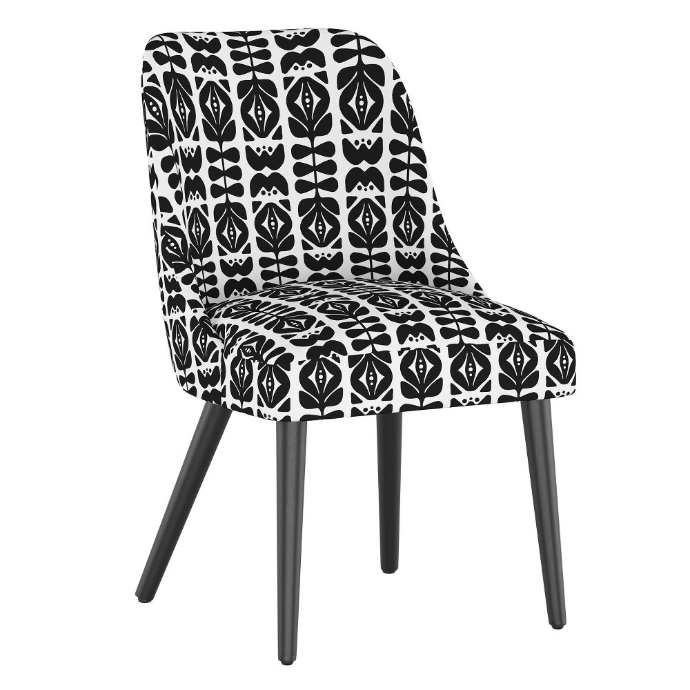 Rounded Back Dining Chair Oslo Block Black - Skyline Furniture from Skyline Furniture