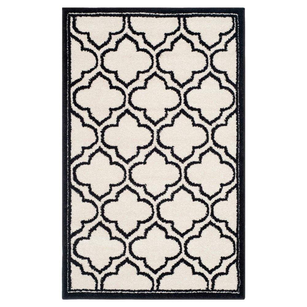 "Coco 2'6""x4' Indoor/Outdoor Rug - Ivory/Anthracite - Safavieh, Ivory/Grey"