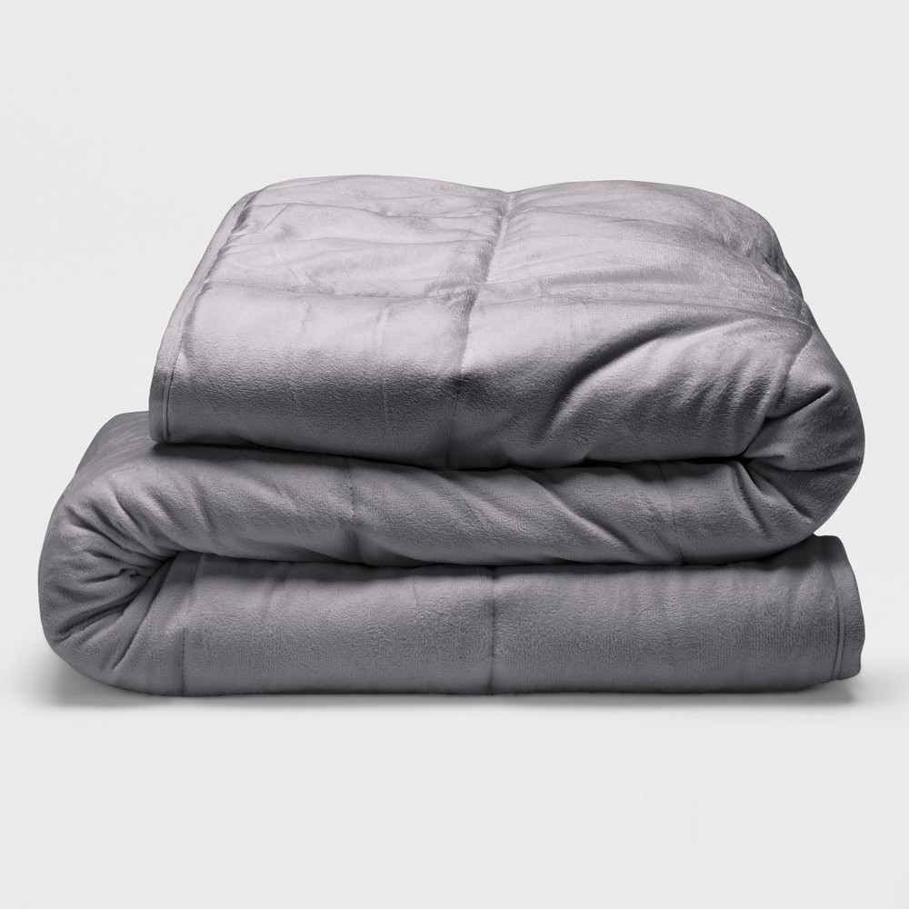 "Sealy 48"" x 72"" Microplush 12lb Weighted Blanket Gray from Sealy"