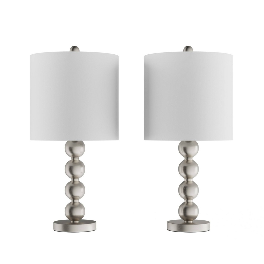 Set of 2 Contemporary Stacked Balls Table Lamps from Trademark Global
